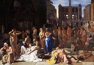 Dipinto di Michiel Sweerts raffigurante la peste di Atene