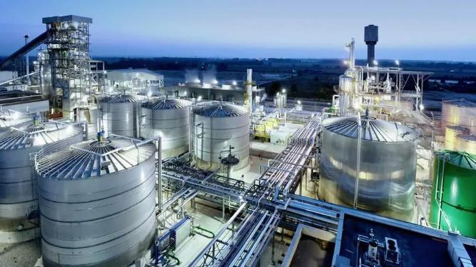 Impianto della bioraffineria di seconda generazione