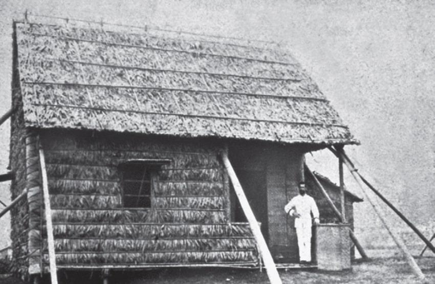Capanna in cui Alexandre Yersin isolò il bacillo della Peste (National Quarantine Station, Shangai Station, 1936).