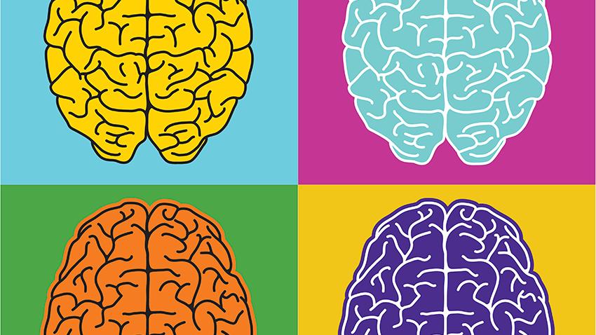Rappresentazione grafica moderna di emisferi cerebrali