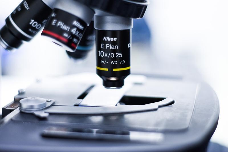 Revolver ed obiettivi nel microscopio ottico