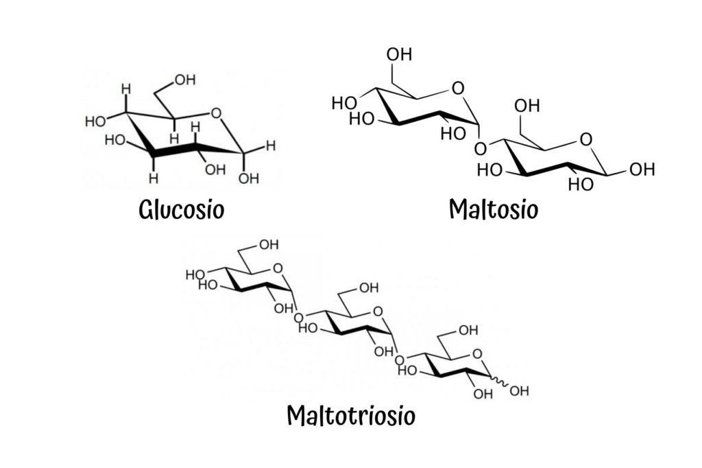 composizione zuccherina del mosto (glucosio, maltosio, maltotriosio)