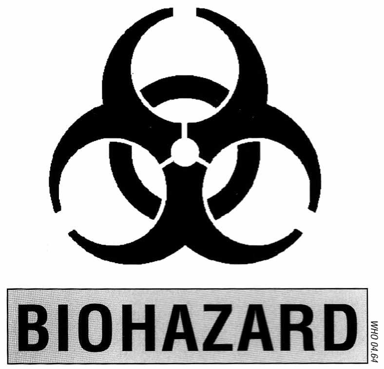 Simbolo internazionale di rischio biologico